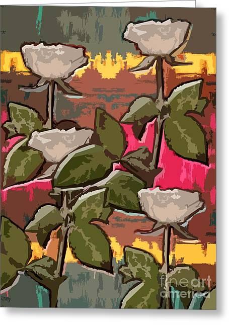 Rose Petals Mixed Media Greeting Cards - Petals Greeting Card by Patrick J Murphy