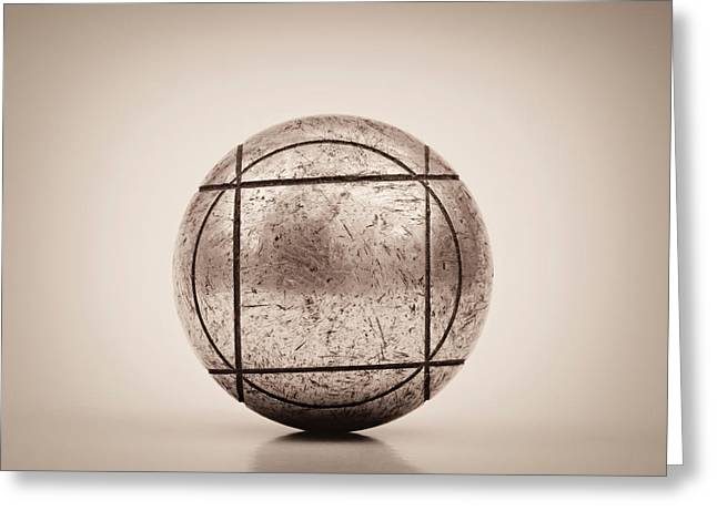 Orient Photographs Greeting Cards - Petanque Ball Greeting Card by Wim Lanclus