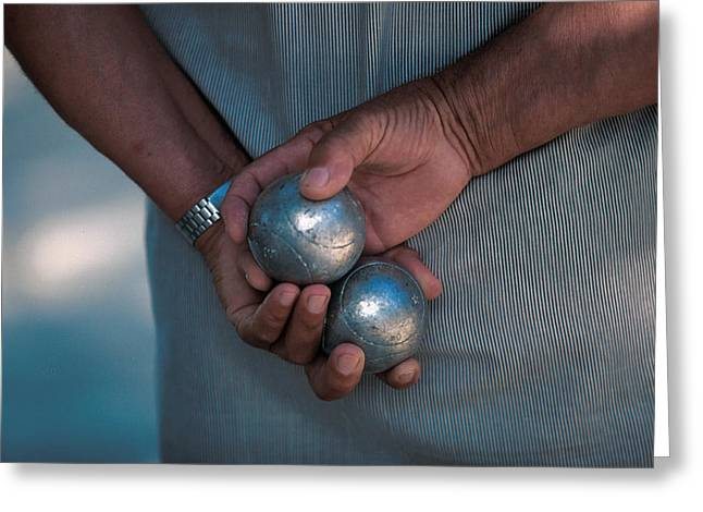 Leasure Greeting Cards - Petanque Greeting Card by Gilles Martin-Raget
