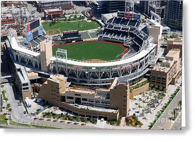 San Diego Padres Stadium Photographs Greeting Cards - Petco Park San Diego CA Greeting Card by Bill Cobb
