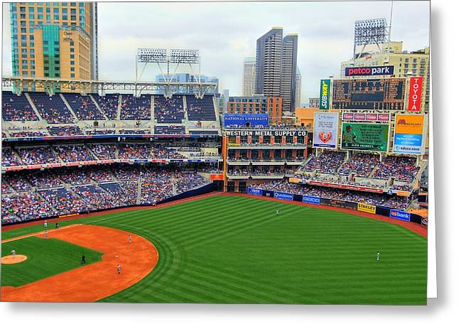Petco Park Photographs Greeting Cards - Petco Park Greeting Card by Walt Miller