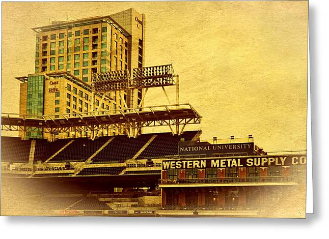 Petco Park Photographs Greeting Cards - Petco Park- Western Metal Greeting Card by See My  Photos