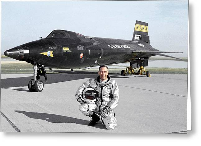 Pete Knight As X-15 Test Pilot Greeting Card by Nasa