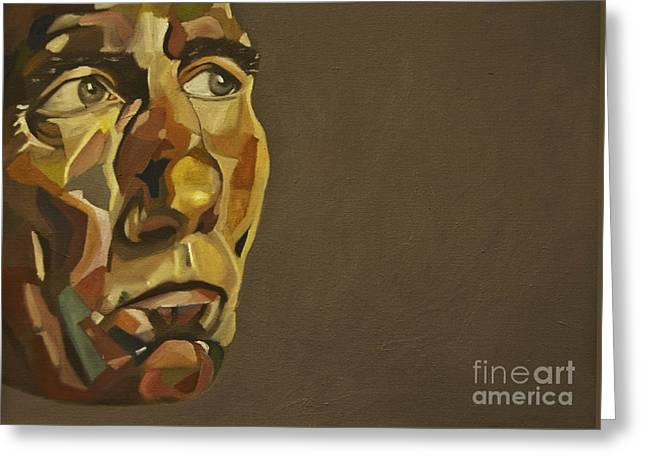 British Portraits Greeting Cards - Pete Postlethwaite Greeting Card by James Lavott