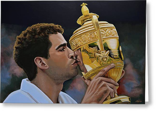 Wimbledon Greeting Cards - Pete Sampras Greeting Card by Paul  Meijering