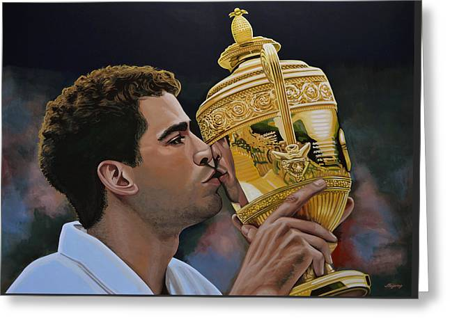 Davis Cup Greeting Cards - Pete Sampras Greeting Card by Paul Meijering