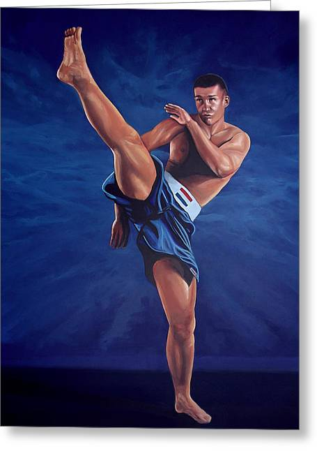 Kickboxers Greeting Cards - Peter Aerts  Greeting Card by Paul  Meijering