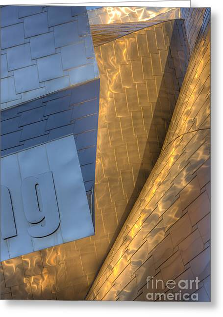 Stainless Steel Greeting Cards - Peter B. Lewis Building V Greeting Card by Clarence Holmes