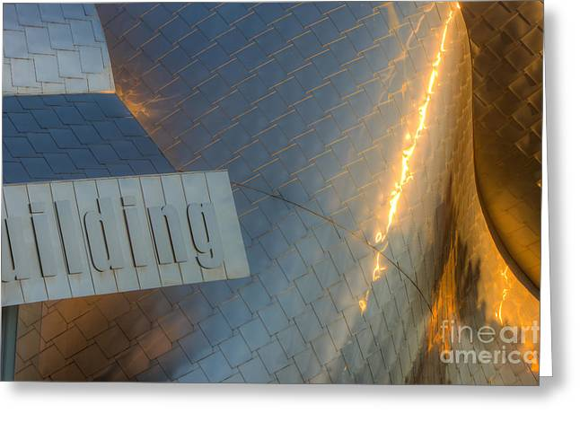 Stainless Steel Greeting Cards - Peter B. Lewis Building VII Greeting Card by Clarence Holmes