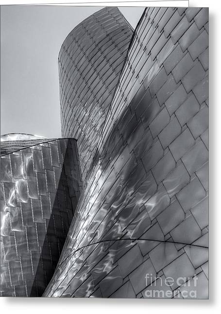 Stainless Steel Greeting Cards - Peter B. Lewis Building X Greeting Card by Clarence Holmes