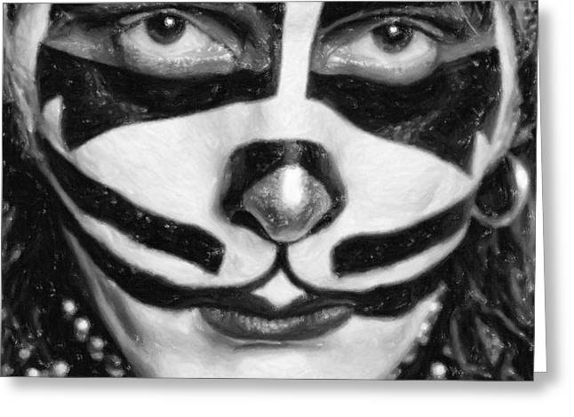 Co-founder Greeting Cards - Peter Criss Greeting Card by Antony McAulay