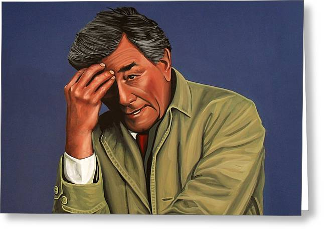 Thinking Greeting Cards - Peter Falk as Columbo Greeting Card by Paul Meijering