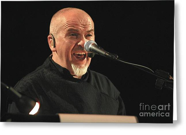 Flautist Greeting Cards - Peter Gabriel Greeting Card by Front Row  Photographs