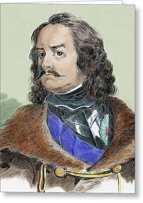 Peter I Alexeievitch The Great Greeting Card by Prisma Archivo