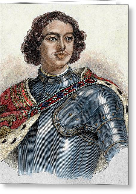 Peter I The Great (1672-1725 Greeting Card by Prisma Archivo