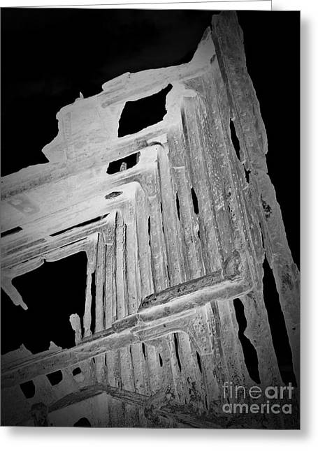 Peter Iredale Reverse Bw 6 Greeting Card by Chalet Roome-Rigdon