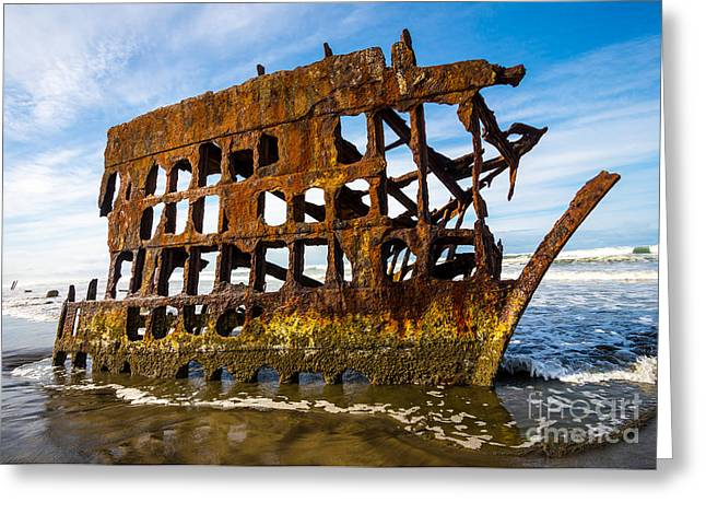 Sailing Ship Greeting Cards - Peter Iredale Shipwreck - Oregon Coast Greeting Card by Gary Whitton