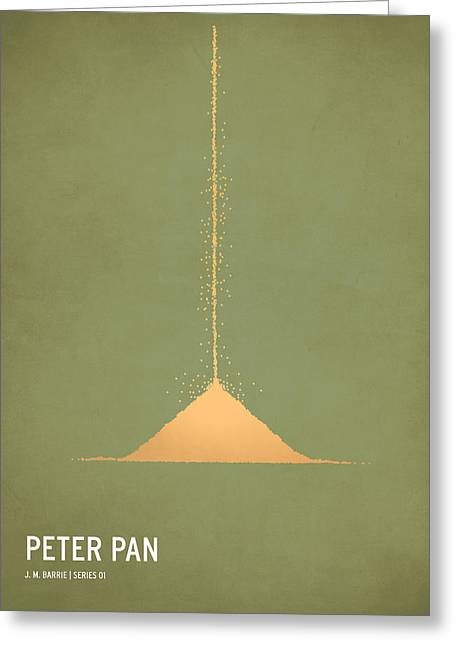 Typography Greeting Cards - Peter Pan Greeting Card by Christian Jackson
