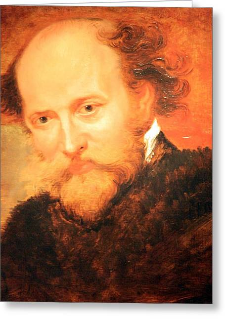 Peter Paul (1577-1640) Greeting Cards - Sir Peter Paul Rubens Self Portrait Greeting Card by Cora Wandel