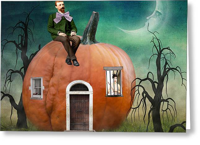 Haunted Digital Art Greeting Cards - Peter Peter Pumpkin Eater Greeting Card by Juli Scalzi