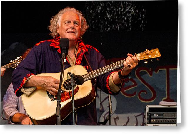 Blissfest Greeting Cards - Peter Rowan Greeting Card by Bill Gallagher
