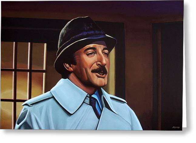 British Celebrities Greeting Cards - Peter Sellers as inspector Clouseau  Greeting Card by Paul Meijering