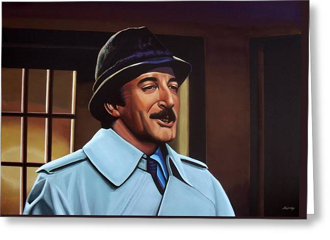 Comedian Greeting Cards - Peter Sellers as inspector Clouseau  Greeting Card by Paul Meijering