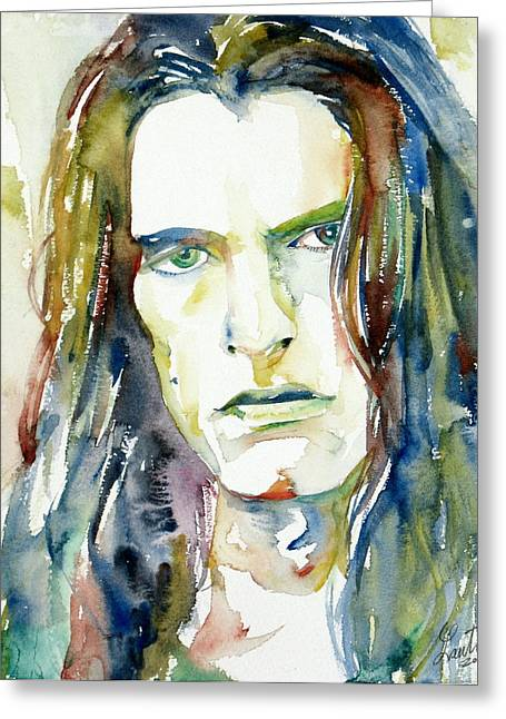 Peter Steele Portrait.4 Greeting Card by Fabrizio Cassetta