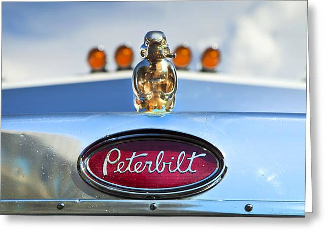 Death Proof Greeting Cards - Peterbilt 2 Greeting Card by Theresa Tahara