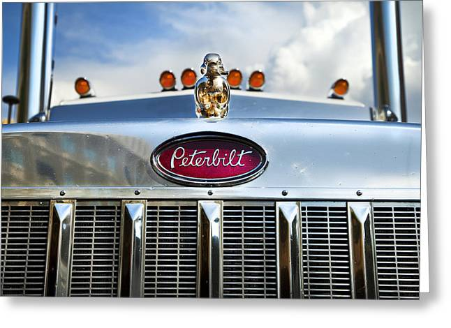 Canadian Photographer Greeting Cards - Peterbilt Greeting Card by Theresa Tahara