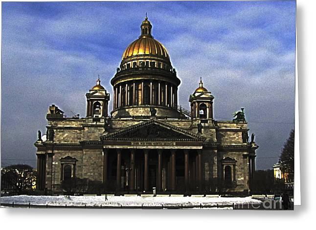 People Pyrography Greeting Cards - Peterburg CITY Greeting Card by Yury Bashkin