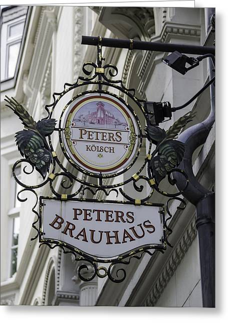 Bier Greeting Cards - Peters Brauhaus Cologne Germany Greeting Card by Teresa Mucha