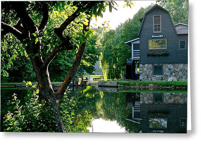 Grist Mill Greeting Cards - Peterson Mill in Saugatuck Michigan Greeting Card by Julie Ketchman
