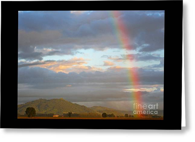 Boren Greeting Cards - Petersons Butte Rainbow Landscape Greeting Card by Nick  Boren