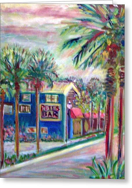 Pete's Bar In Neptune Beach Greeting Card by Patricia Taylor