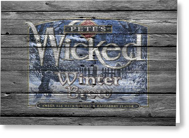 Winter Wheat Greeting Cards - Petes Wicked Winter Brew Greeting Card by Joe Hamilton