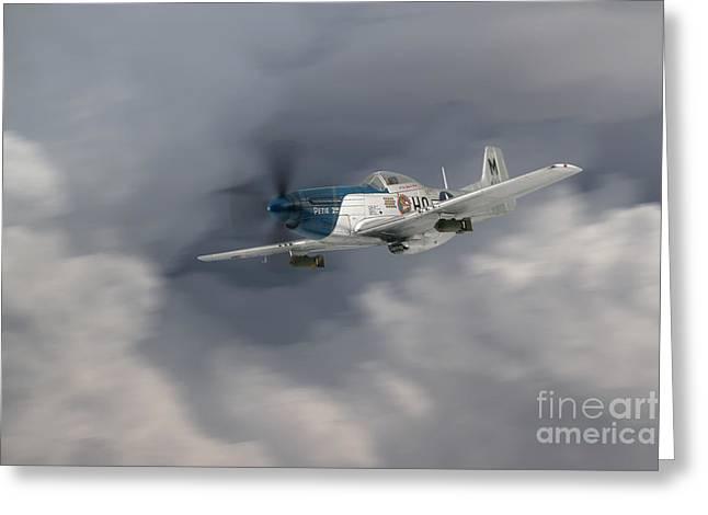 North American P51 Mustang Digital Art Greeting Cards - Petie 352nd Fighter Group Greeting Card by J Biggadike