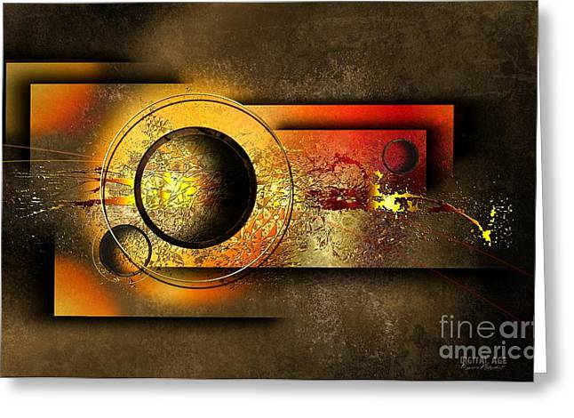 Fine Mixed Media Greeting Cards - Petit Espoir Lumineux  Greeting Card by Franziskus Pfleghart