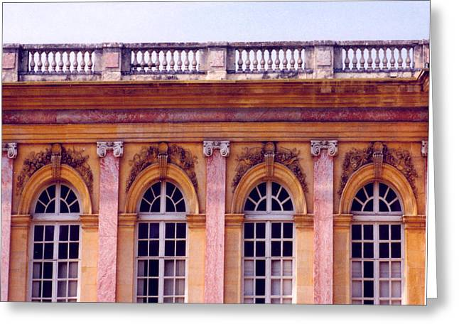 Trianon Greeting Cards - Petit Trianon Greeting Card by Nancy B
