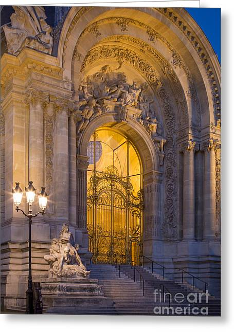 Convention Greeting Cards - Petite Palais Twilight Greeting Card by Brian Jannsen