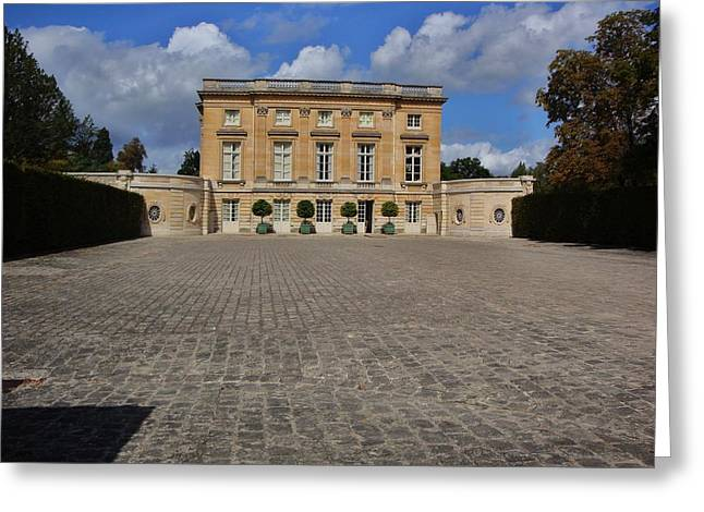 Trianon Greeting Cards - Petite Trianon Versailles Greeting Card by Connie Bazinet