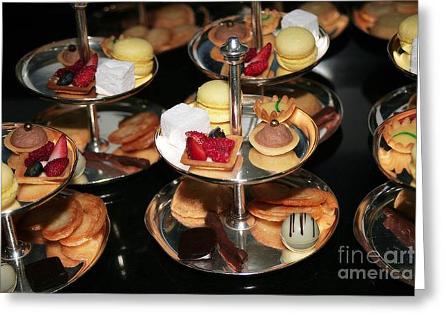 Sweetmeats Greeting Cards - Petits Fours Eden Roc Greeting Card by Ros Drinkwater