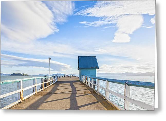 North Island Greeting Cards - Petone Pier Wellington New Zealand Greeting Card by Colin and Linda McKie