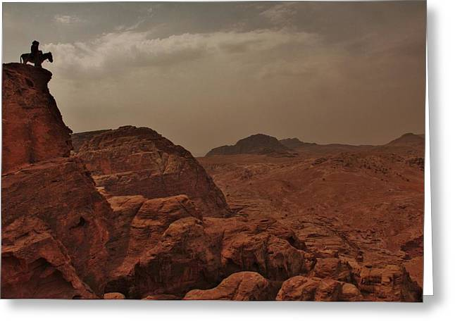 Petra Greeting Cards - Petra overlook Greeting Card by Linda Russell