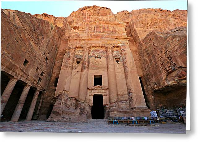 Caves Greeting Cards - Petra Tomb Greeting Card by Stephen Stookey