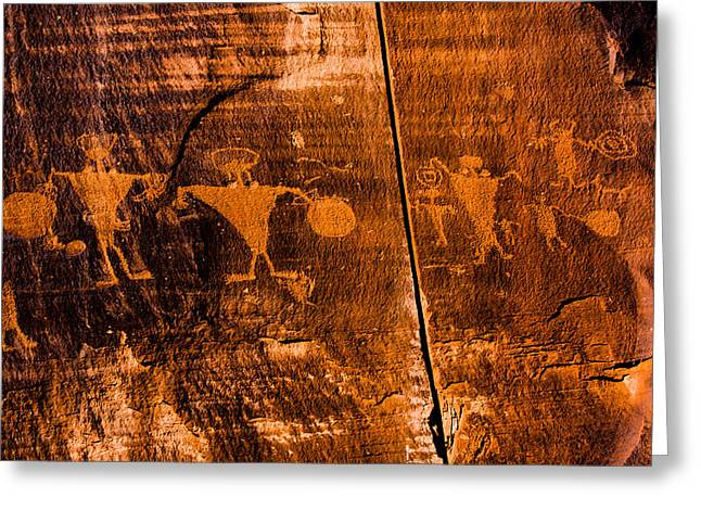Religion Greeting Cards - Petroglyphs Greeting Card by Helix Games Photography