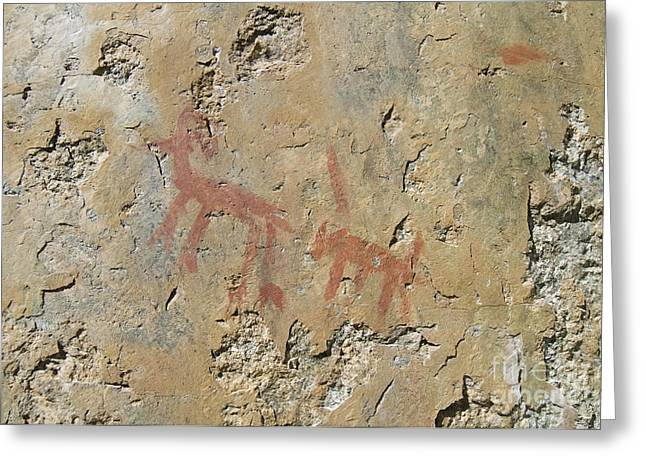 Ancient Indian Art Greeting Cards - Petroglyphs Greeting Card by William H. Mullins
