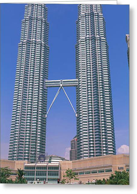 Corporate Business Greeting Cards - Petronas Twin Towers, Kuala Lumpur Greeting Card by Panoramic Images