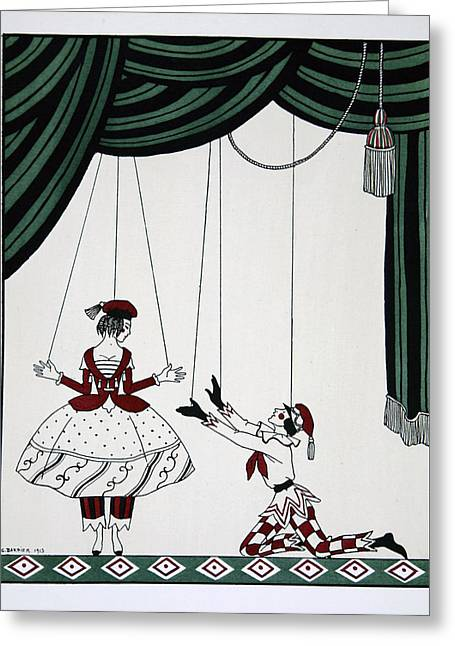 Puppet Greeting Cards - Petroushka Greeting Card by Georges Barbier