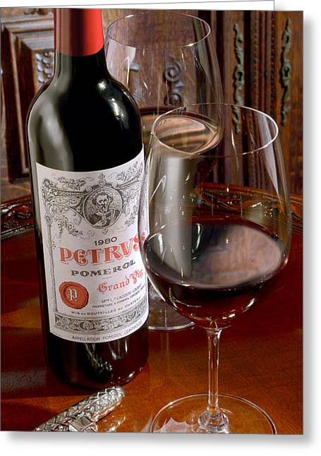 Wine Country. Greeting Cards - Petrus Greeting Card by Jon Neidert